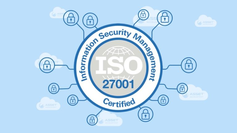 Graphic that Visualises that AssetAccountant is ISO27001 Certified